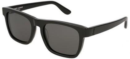 Saint Laurent SL M13-001 Black Black - Shiny Grey