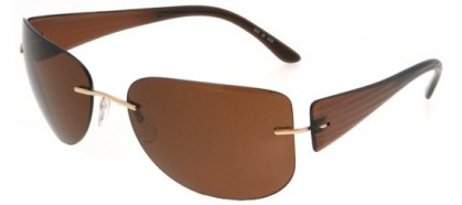 Silhouette 8101 6129 Brown - Brown Polarized