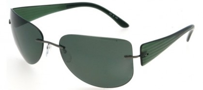 Silhouette 8101 6150 Green - Green Polarized