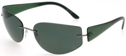 Silhouette 8102 6150 Green - Green Polarized