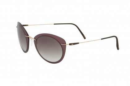 Silhouette 8161 Infinity Colleciton 3530 B Brown Rose Gold - Brown Shaded