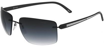 Silhouette 8686 Carbon T1 6235 Matte Black - Blue Shaded