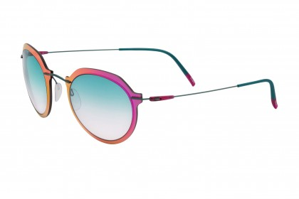 Silhouette 8695 Infinity Colleciton 5040 B Pink Shaded - Aqua Green Shaded
