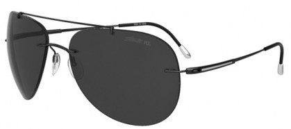 Silhouette ADVENTURER 8142 6200 Black - Grey Polarized
