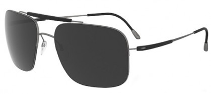 Silhouette ADVENTURER 8657 6200 Black - Grey Polarized