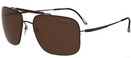 Silhouette ADVENTURER 8657 6226 Brown - Brown Polarized