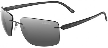 Silhouette CARBON T1 8686 6220 Ruthenium - Grey Mirror