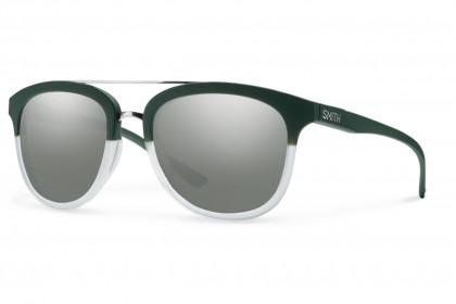 Smith CLAYTON/N WJZ/I6 Green Crystal - Platinum Silver Mirror