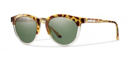 SMITH STYLE QUESTA FWU  (IN) Amber Tortoiseshell - Grey Green Solid Tint Polarized
