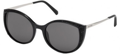 Swarovski SK0168 01A Shiny Black - Grey