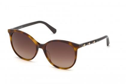 Swarovski SK0223 52F Dark Brown - Brown