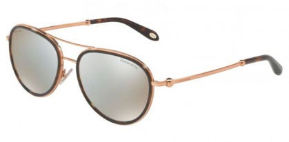 Tiffany 0TF3059 6126H6 Havana - Brown Mirror White Polarized