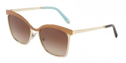Tiffany 0TF3060 61283B Brown Pale Gold - Brown Gradient