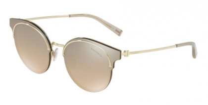Tiffany 0TF3061 60213D Pale Gold - Brown Mirror Gradient Silver