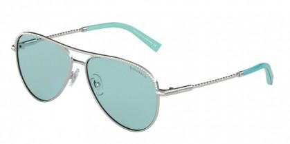 Tiffany 0TF3062 6136D9 Silver - Light Azure