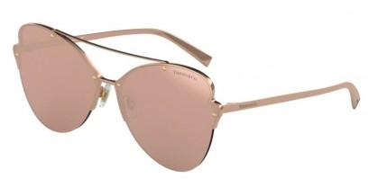 Tiffany 0TF3063 6105E0 Rubedo - Clear Mirror Real Rose Gold