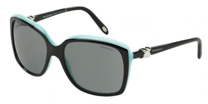Tiffany 0TF4076 80553F Top Black Blue - Gray