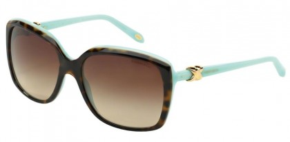 Tiffany 0TF4076 81343B Top Havana Blue - Brown Gradient