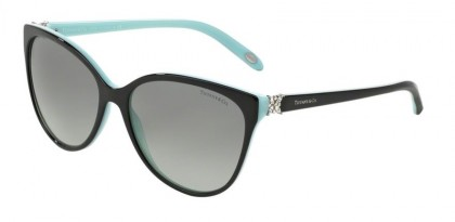 Tiffany 0TF4089B 80553C Black Blue - Gray Gradient