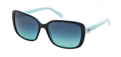 Tiffany 0TF4092 80554S Black Blue - Azure Gradient Blue