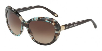 Tiffany 0TF4122 82153B Brown Havana Spotted Opal Blue - Brown Gradient