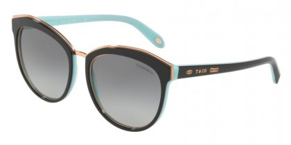 Tiffany 0TF4146 80553C Black Blue - Grey Gradient