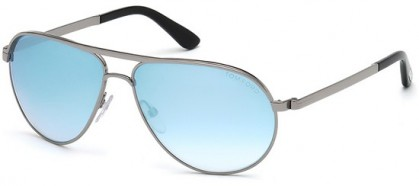 Tom Ford FT0144 14X Light Ruthenium Black - Azure Mirror