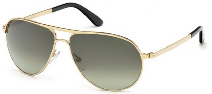 Tom Ford FT0144 28P Rose Gold - Grey Green Shaded