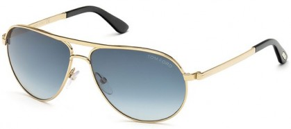 Tom Ford FT0144 28W Gold - Blue Shaded