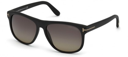 Tom Ford FT0236 02D Matte Black - Grey Brown Shaded Polarized