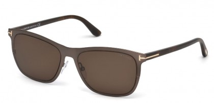 Tom Ford FT0526 ALASDHAIR 48J Shiny Dark Brown - Roviex
