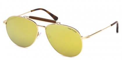 Tom Ford FT0536 SEAN 28G Rose Gold - Yellow Gold Mirror