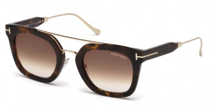 Tom Ford FT0541 ALEX-02 55U Havana - Dark Brown Shaded