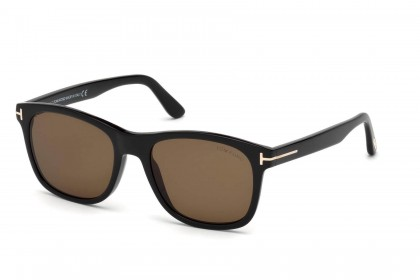 Tom Ford FT0595 ERIC-02 01J Shiny Black - Brown