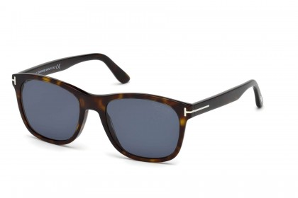 Tom Ford FT0595 ERIC-02 52D Dark Havana - Blue Polarized