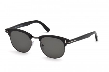 Tom Ford FT0623 LAURENT-02 02D Matte Black - Smoke Polarized
