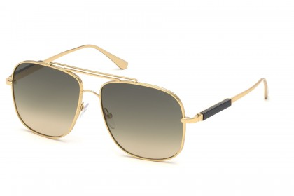 Tom Ford FT0669 JUDE 30B Gold - Grey Beige Shaded