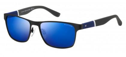 Tommy Hilfiger TH 1283/S FO3/XT Black Blue Grey - Grey Blue