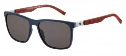 Tommy Hilfiger TH 1445/S LCN (NR) Blue Burgundy - Dark Brown