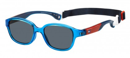 Tommy Hilfiger TH 1499/S MVU/IR Transaprent Blue Red - Grey