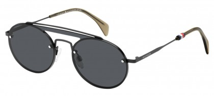 Tommy Hilfiger TH 1513/S 003 (IR) Matte Black - Grey Blue