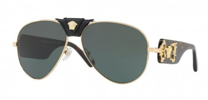 Versace 0VE2150Q 100271 Gold - Grey Green