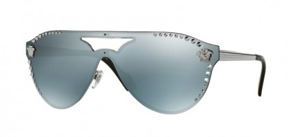 Versace 0VE2161 10011U Gunmetal - Blue Mirror Silver 80