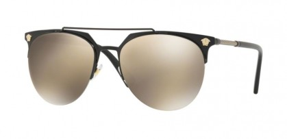 Versace 0VE2181 12615A Matte Black - Light Brown Mirror Gold
