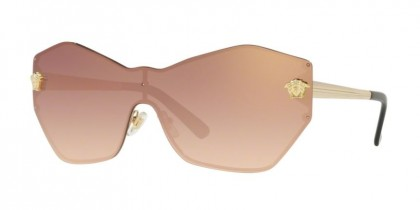 Versace 0VE2182 12526F Pale Gold - Gradient Pink Mirror Pink