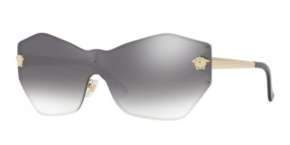 Versace 0VE2182 12526I Pale Gold - Gradient Grey Mirror Silver