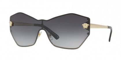 Versace 0VE2182 12528G Pale Gold - Grey Gradient