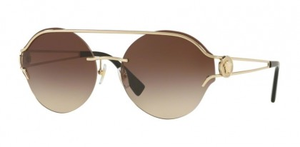Versace 0VE2184 125213  Pale Gold - Brown Gradient