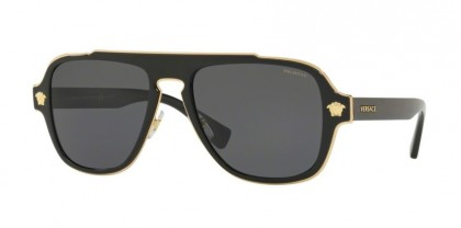 Versace 0VE2199 MEDUSA CHARM 100281 Black - Polar Grey