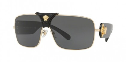 Versace 0VE2207Q SQUARED BAROQUE 100287 Gold - Grey